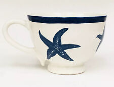 Blue Sky Ceramics Under The Sea Starfish White Blue Footed Mug Heather Goldmine