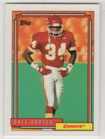 1992 Topps Football Kansas City Chiefs Team Set (32 Cards)