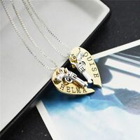 1 Pair Love Heart Gift Lovers Heart Pendant Couple Necklace Stainless Steel
