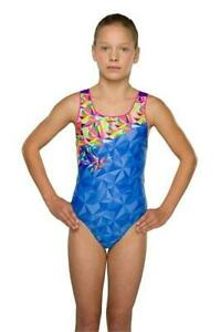 Maru Girls Nectar Pacer Auto Back Blue/Pink Swimsuit Swim Costume - 2 Years