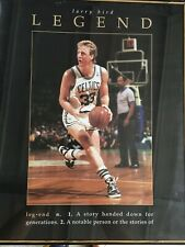 "Framed Vintage Larry Bird ""Legend"" Poster Celtics 18""x12"""