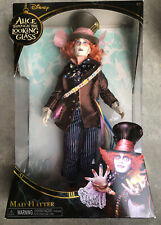 DISNEY STORE ALICE THROUGH THE LOOKING GLASS MAD HATTER DOLL NEW IMPERFECT  BOX
