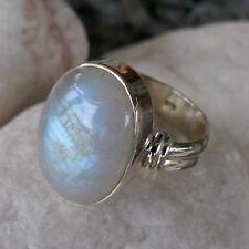 Klassischer  Ring mit einmaligen   Mondstein-Gr.58 - 18,4 mm