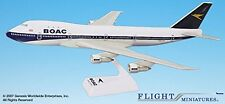 BOAC (66-72) Boeing 747-100 Airplane Miniature Model Plastic Snap Fit 1:200