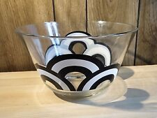 Vintage 70's Colony Black and White Rainbow Large Serving Bowl