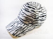 Berretto ZEBRA Crossing Cappello Zebrato Animalier Pile Cappellino Women's Hat