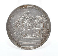 Antike Medaille Athena Jüngling Moral Tugend Silber Barock Rokoko Augsburg ?