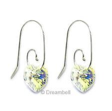 Love Dangle Earring Sterling Silver Swirl Earwire made with Swarovski Elements