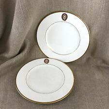 2 Emblèmes Porcelaine Assiettes Wedgwood City of London Merchant Taylors RARE