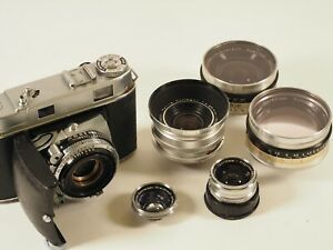 Kodak Retina IIc outfit with additional lenses.