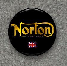 Norton Motorcycle + Union Jack - Large Button Badge - 58mm diam