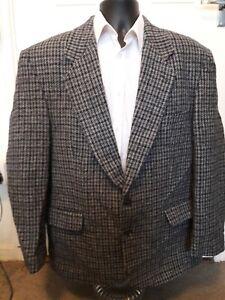 mens grey harris tweed jacket / blazer / coat canda c&a size 46R