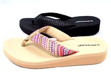 LADIES WOMENS NEW DUNLOP TOE POST SANDALS LOW WEDGE BEACH FLIP FLOPS SIZE 3 - 8