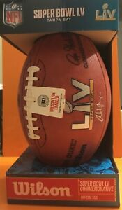 THE WEEKND Autographed NFL Authentic WILSON Super Bowl LV Football 2021 Official
