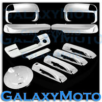 Chrome Towing Mirror+ARM+4 Door Handle+Tailgate w/key+Gas Cover for 10-19 RAM