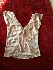 Top Pink With White Spots V Neck Sleeveless Bus Or Fun Size16 Forever New