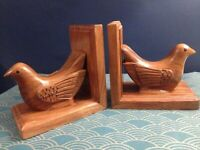 French 1930's Art Deco hand made wooden book ends- Great design