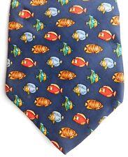 Tropical fish Italian silk tie Angel fish theme Tie Rack pets animals