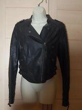 Atmosphere Primark Ladies Black Soft Leather Look Biker Jacket Uk 10
