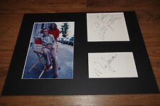 WOODY ALLEN & MIA FARROW signed Autogramm auf 25x35 cm Passepartout Foto LOOK