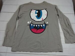 The Children's Place Boys Gray Long Sleeve Eye Ball Shirt Size XL 14 - A2300