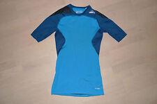 Adidas TechFit Cool SS Shirt Kompressions Shirt Laufshirt Herren S blau / türkis