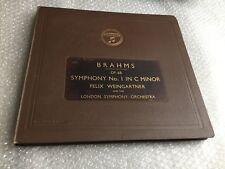 BRAHMS Op.68 SYMPHONY No.1 IN C MINOR -FELIX WEINGARTNER 78 RPM ALBUM