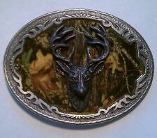 BELT BUCKLE - MOSSY OAK BREAKUP DEER MENS BELT BUCKLE BBMO-02 BRAND NEW