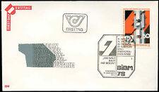 Austria 1978 CEMENTO & prefabbricazione industria FDC primo giorno Coperchio #C 17639