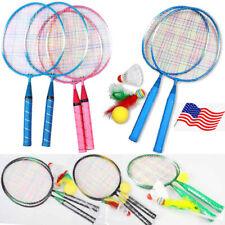 1 Pair Children Tennis Badminton Rackets Ball Set Sports Family Game Toy HOT !