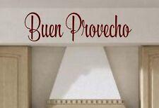 Buen Provecho Spanish vinyl lettering wall decals art words family kitchen art