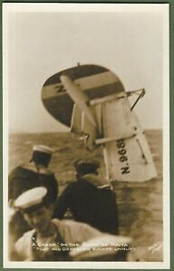 Royal Navy Sailors With Seaplane Ditched Off The Coast Of Malta. RP c1930