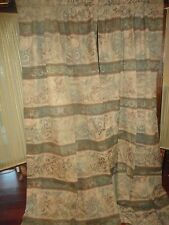 CROSCILL LOGAN (PAIR) PANELS CURTAINS GREEN MERLOT 41 X 86 TUSCAN OLD WORLD