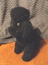 Dakin Black Poodle Jointed Legs Plush