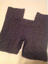 00900e86385b6 Athleta Women s Heathered Black Athletic Stretch Yoga Workout Pants 4  Pocket M