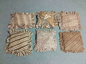Collection of 6 Vintage 1976 African Kuba Cloth Pillows HENRI BENDEL 57th St NY
