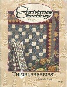 Christmas Greetings 2001 Jensen Thimbleberries Star Garland Quilt Table Skirt
