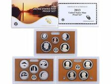 New Listing2013-S Us Mint Proof Set 14 Unc. Coins Presidential Dollars Atb Quarters #51
