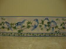 Brewster ~ Blue Birds on Tree Branch  ~ EZ Hang Self Stick Wallpaper Border