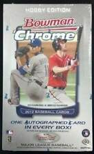 2012 Bowman Chrome Baseball Factory Sealed Hobby Box - 1 Autograph Per Box