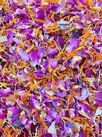 1 Litre Biodegradable Pink Yellow Red Wedding Eco Confetti Natural Dried Petals