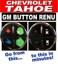 2007-2013 TAHOE AC BUTTON DECALS GM CLIMATE CONTROL REPAIR SET WORN FADED