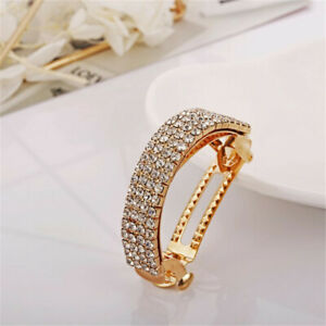 Women Crystal Rhinestone Barrettes Hair Clips Pins Hairpin Ponytail Accessories