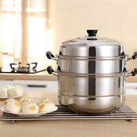 3tier steamer cooker Steam pot Stainless Steel Kitchen Cookware 28cm Hot Pot