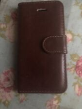 iphone 5 5s se 2016 brown leather wallet case