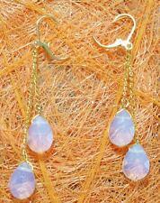 Mode weißen Opal Hochzeit Partei Schmuck Ohrringe