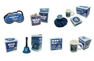 Man Flu (Ring for Sympathy Bell, Mug, Tissues, Mints Pills or Survival Kit etc)