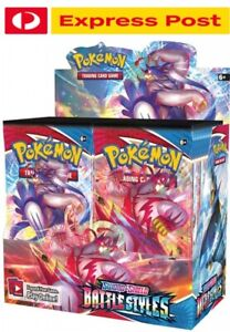 POKEMON Battle Styles Fully Sealed Booster Box 36 Packets FREE EXPRESS SHIPPING