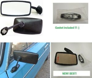 Black mirror LADA 2101 2102 2103 2106 NIVA FIAT. Suitable for any car. 1pc