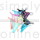 3 PACK SEXY LADIES LACE THONGS LOT G-STRING, KNICKERS LINGERIE SIZE 8, 10, 12,